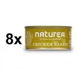 Naturea GF Cat - Chicken, Rabbit 8 x 80g