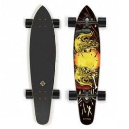 """Street Surfing Kicktail 36"""" Spartans černý/žlutý"""