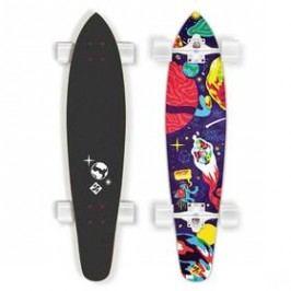 """Street Surfing Kicktail 36"""" Space bílý/červený/modrý"""