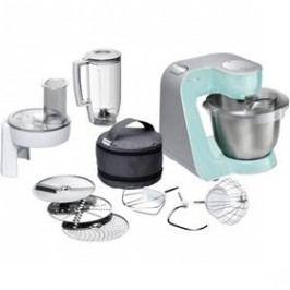 Bosch CreationLine MUM58020 stříbrný/tyrkysový