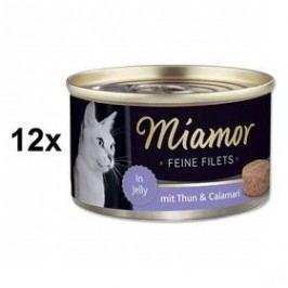 Miamor Filet tuňák + kalamáry v želé 12 x 100g