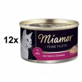 Miamor Filet kuře + šunka 12 x 100g