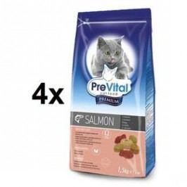 PreVital Premium pro kočky s lososem 4 x 1,5kg