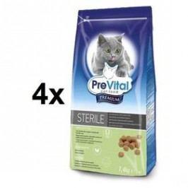 PreVital Premium pro kastrované a sterilizované kočky 4 x 1,4kg