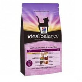 Hill's Ideal Balance Feline Adult with Fresh Chicken & Brown Rice 4 kg