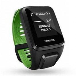 Tomtom Runner 3 Cardio + Music + Bluetooth sluchátka (L) (1RKM.001.10) černé/zelené