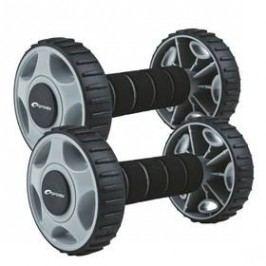 Posilovací váleček Spokey Double Wheeld, dvě kolečka - černá