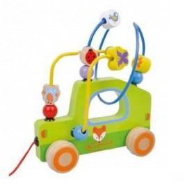 Motorický labyrint Sun Baby tahací autíčko
