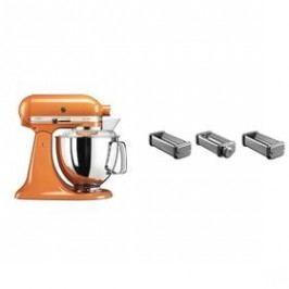 Set KitchenAid - kuchyňský robot 5KSM175PSETG + KPRA strojek na těstoviny