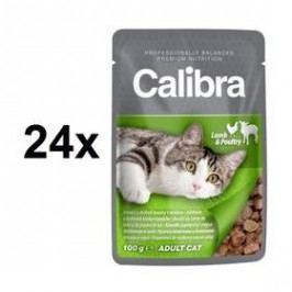 Calibra Cat Adult jehněčí a drůbeží v omáčce 24 x 100 g