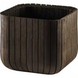 Keter Cube planter L hnědý