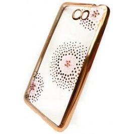 Beeyo Flower Dots pro Huawei Y6 II Compact (BEAHUY6IICTPUFLGO) zlatý