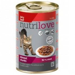 Nutrilove Cat chunks Beef jelly 400g