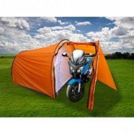 Calter Biker pro 3 osoby, s předsíňkou pro motocykl oranžový