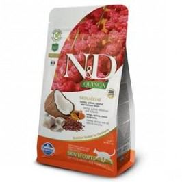 N&D Grain Free Quinoa CAT Skin&Coat Herring & Coconut 1,5 kg Kočky