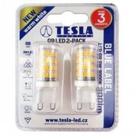 Tesla bodová, 3W, G9, teplá bílá (G9000330-5PACK )