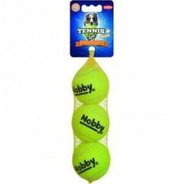 Nobby tenisový míček M pískátko 6,5 cm 3 ks