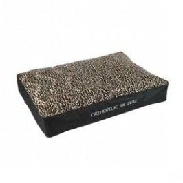 O'Lala Pets ortopedická De Luxe 100 x 70 cm leopard