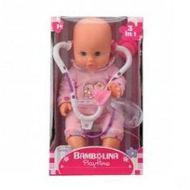 Bambolina s stetoskopem a kojeneckou lahvičkou 33 cm