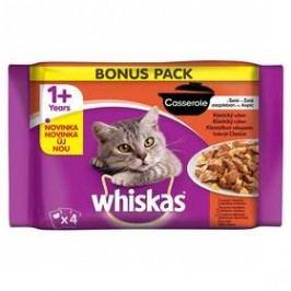 Whiskas Casserole klasický výběr v želé 4pack 4 x 85g