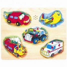 Bino Hrací puzzle - doprava Hračky ze dřeva