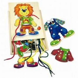První šití BINO - Lvíček Leo Hračky ze dřeva
