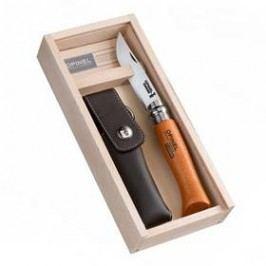 Opinel Carbon Tradition VRN N°08, čepel 8,5 cm - BUK + pouzdro, dřevěná krabička