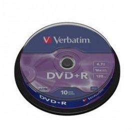 Verbatim DVD+R 4,7GB, 16x, 10-cake (43498)