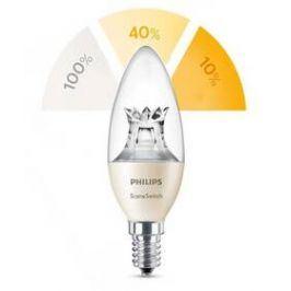 Philips SceneSwitch, svíčka, 2 - 4 - 5,5 W, E14, teplá bílá (8718696598474)