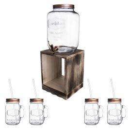 Láhev sklo 8,8 l+kohoutek+stojan 4+1 ORION