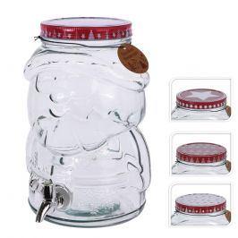 Láhev sklo+kohoutek SANTA 4 l  ORION