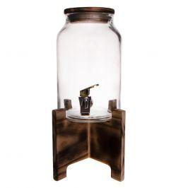 Láhev sklo 4,2 l+kohoutek+stojan dřevo ORION