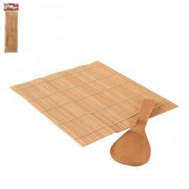 Podložka na sushi+lžíce dřevo ORION