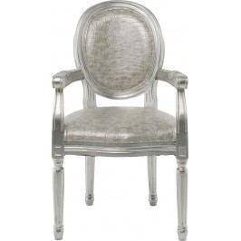 Židle s opěrkou Louis Croco Antique