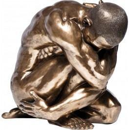 Dekorativní figurka Nude Man Hug Bronze 54cm