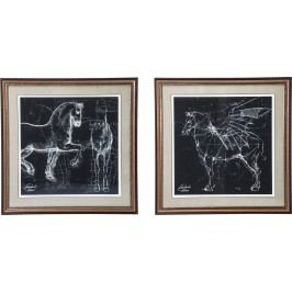 Obraz s rámem Horse Studies 110x110cm - více variant