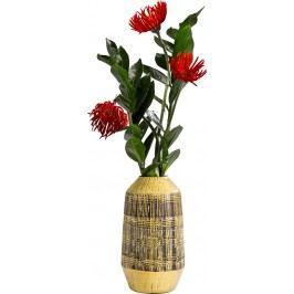 Dekorativní váza Muse Stripes Yellow 29 cm