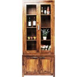 Authentico skříň s vitrínou a 4 dveřmi