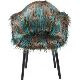 Židle s opěrkou Yeti Fur Dark Green