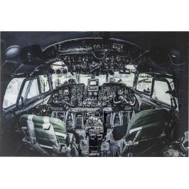 Obraz na skle Cockpit View 100x150cm