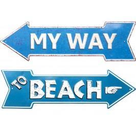 Nástěnná dekorace My Way-Beach 15x51cm - více variant