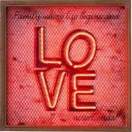 Nástěnná dekorace Love NEON Grid