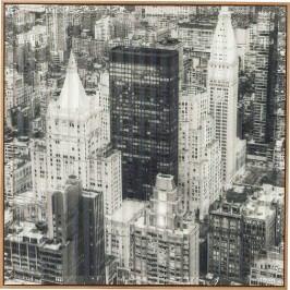 Obraz s rámem Art 3D City View Three 80x80cm