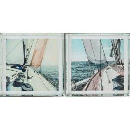 Obraz s rámem Sailing 80x80cm