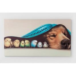 Obraz Touch Dog and Birds 75x135cm