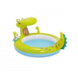 Nafukovací dětský zahradní bazének s vodotryskem ve tvaru krokodýla