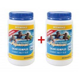 AQuaMar Komplex 5v1 1,0kg - sada 2 ks 19900030 Chemie do bazénu