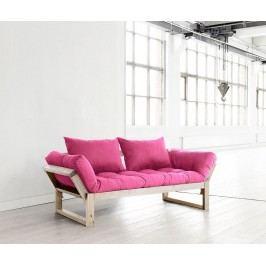 Pohovka Edge  Natural & Pink 75x200 cm