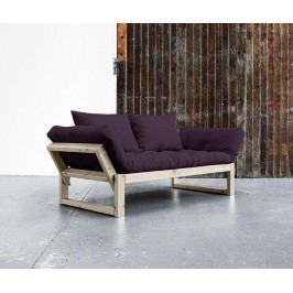 Pohovka Edge Natural & Purple 75x200 cm