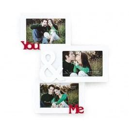 Rám na 3 fotografie You & Me